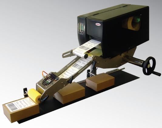 GoDEX AG2000 etiketteermachine etiket aanbrengen print apply labelcare etiketsysteem lopende band